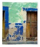 Old Doors, Mexico Fleece Blanket