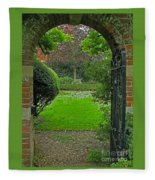 Old English Garden Fleece Blanket