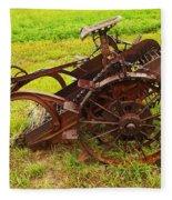Old Farm Equipment Hardin Montana Fleece Blanket