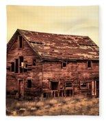 Old Farm House Fleece Blanket