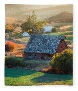 Old Farm In Eastern Washington Fleece Blanket