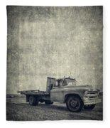 Old Farm Truck Cover Fleece Blanket