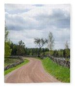 Old Fashioned Gravel Road Fleece Blanket