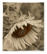 Old Fashioned Sunflower Fleece Blanket
