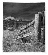 Old Fence At Mount Lassen Fleece Blanket