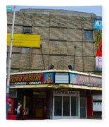 Old Film Theatre In Decay Fleece Blanket