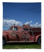 Old Fire Truck Fleece Blanket