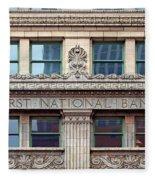 Old First National Bank - Building - Omaha Fleece Blanket