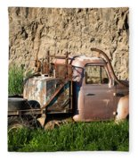 Old Flatbed International Truck Fleece Blanket