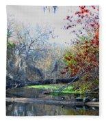 Old Florida Along The Sante Fe River Fleece Blanket