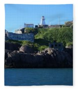 Old Fort Amherst By Barbara Griffin Fleece Blanket