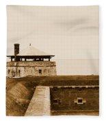 Old Fort Niagara North Redoubt Fleece Blanket