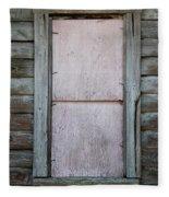 Old Framed Window Fleece Blanket