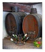 Old French Wine Casks Fleece Blanket