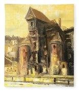 Old Gdansk - The Crane Fleece Blanket