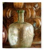 Old Glassware Fleece Blanket