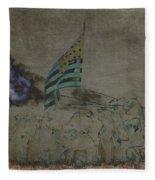 Old Glory Standoff Fleece Blanket