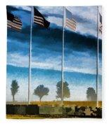 Old Glory-the American Flag Fleece Blanket