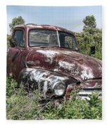 Old Gmc Truck Fleece Blanket