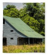 Old Gray Barn Fleece Blanket