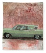 Old Green Car Fleece Blanket