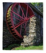 Old Grist Mill Vermont Fleece Blanket