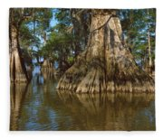 Old-growth Cypresses At Lake Fausse Fleece Blanket