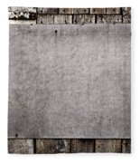 Old Grunge Plywood Board On A Wooden Wall Fleece Blanket