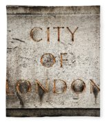 Old Grunge Stone Board With City Of London Text Fleece Blanket