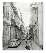 Old Habana Fleece Blanket