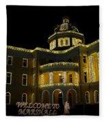 Old Harrison County Courthouse Fleece Blanket