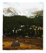 Old Homestead In The Colorado Mountains Fleece Blanket