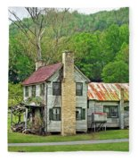 Old House In Penrose Nc Fleece Blanket