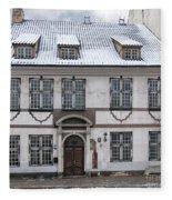 Old House In Riga Fleece Blanket