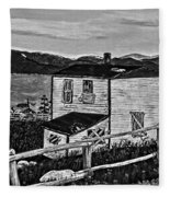 Old House - Memories - Shutters And Boards Fleece Blanket