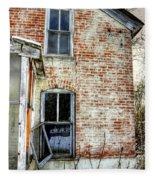 Old House Two Windows 13104 Fleece Blanket