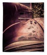 Old Hudson Car Fleece Blanket