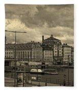 Old In Memory But Modern Copenhagen Fleece Blanket