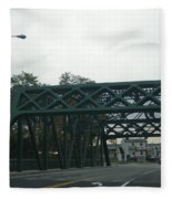 Old Iron Bridge Fleece Blanket