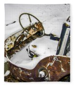 Old Jeep - New Snow Fleece Blanket