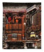 Old Kansas City Factory Building  Fleece Blanket