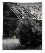 Old Kansas Homestead II Fleece Blanket