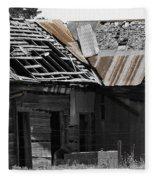 Old Kansas Homestead Fleece Blanket