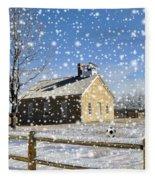 Old Kansas Schoolhouse Fleece Blanket