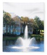 Old Key West Resort Panorama Walt Disney World Fleece Blanket