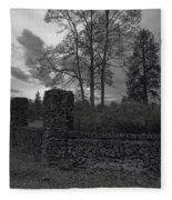 Old Liberty Park Ruins In Spokane Washington Fleece Blanket
