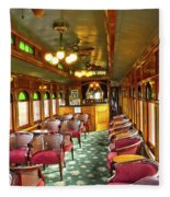 Old Lounge Car From Early Railroading Days Fleece Blanket