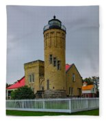 Old Mackinac Point Lighthouse Fleece Blanket