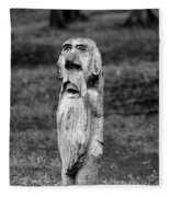 Old Man Gnome Fleece Blanket