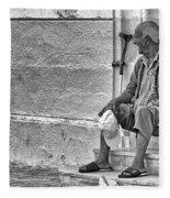 Old Man Fleece Blanket
